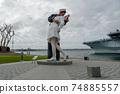 Kissing sailor statue, Port of San Diego. California, USA 74885557
