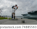 Kissing sailor statue, Port of San Diego. California, USA 74885563