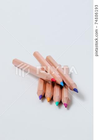 彩色的鉛筆,鉛筆,empitsu,文具,文具,學校,木,畫,寫,油漆,顏色empitsu 74886193