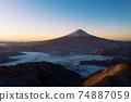 Scenery of Shindo Pass, Mt. Fuji, sea of clouds, sunrise 74887059