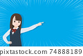 Student girl student girl girl finger pose goal concentrated line illustration material 74888189