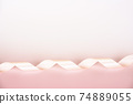 Pink background material with ribbon 74889055