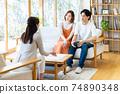 一對年輕夫婦在拜訪業務中得到解釋 74890348