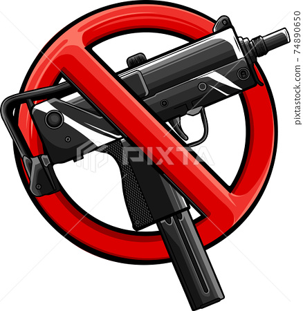 vector illustration no guns or firearms allowed 74890650