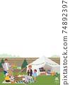 Camp belamping family illustration picnic 74892397