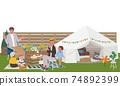 Belamping family illustration picnic 74892399
