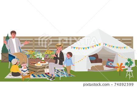 Belamping家庭插畫野餐 74892399