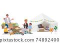 Camp belamping family illustration picnic 74892400