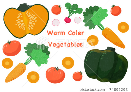 手繪黃色蔬菜圖 74893298