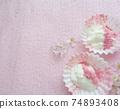 Drained yogurt topped with sakura powder 74893408