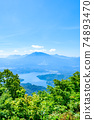 Mt. Madarao in summer: View from Daimeijindake to Lake Nojiri 74893470