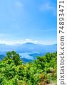 Mt. Madarao in summer: View from Daimeijindake to Lake Nojiri 74893471