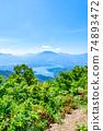 Mt. Madarao in summer: View from Daimeijindake to Lake Nojiri 74893472
