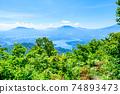 Mt. Madarao in summer: View from Daimeijindake to Lake Nojiri 74893473