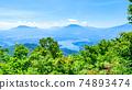 Mt. Madarao in summer: View from Daimeijindake to Lake Nojiri 74893474