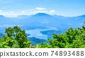 Mt. Madarao in summer: View from Daimeijindake to Lake Nojiri 74893488