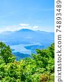 Mt. Madarao in summer: View from Daimeijindake to Lake Nojiri 74893489