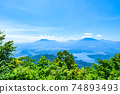 Mt. Madarao in summer: View from Daimeijindake to Lake Nojiri 74893493