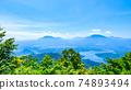 Mt. Madarao in summer: View from Daimeijindake to Lake Nojiri 74893494