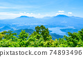 Mt. Madarao in summer: View from Daimeijindake to Lake Nojiri 74893496
