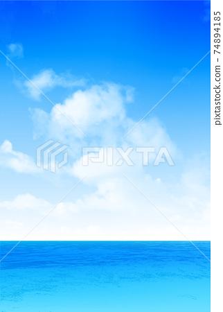 海天空風景背景 74894185