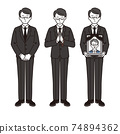 3組男人在哀悼 74894362