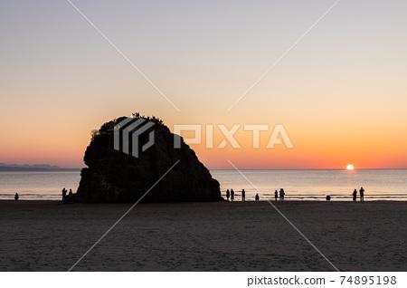 Inasa Beach Sunset Izumo City, Shimane Prefecture 74895198