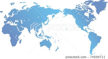 Dot world map material 74899711