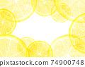 水彩風格切檸檬框架明信片 74900748