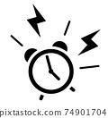 5點鐘發出警報的鬧鐘圖標 74901704