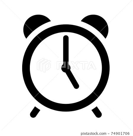 알람 시계 아이콘 5시 74901706