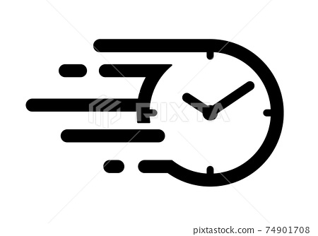 빠른 시간 아이콘 스피드있는 시간의 흐름 아이콘 74901708