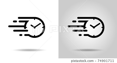 빠른 시간 아이콘 스피드있는 시간의 흐름 아이콘 74901711