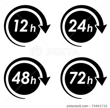 시간 아이콘 변형 세트 74901718