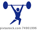 Weight lifting 74901996