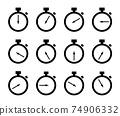 秒錶圖標集 74906332