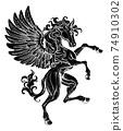 Pegasus Rearing Rampant Crest Coat Of Arms Horse 74910302