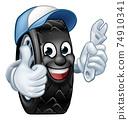 Tyre Cartoon Car Mechanic Service Mascot 74910341