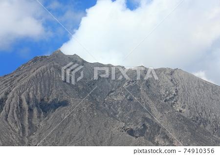[鹿兒島縣]從有村熔岩天文台看到的櫻島 74910356