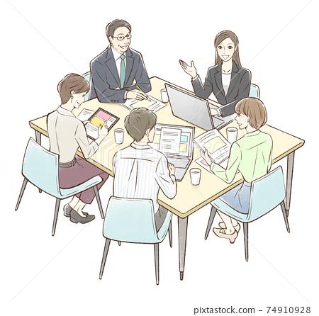 小組會議以婦女為中心 74910928
