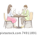 A pair of women having tea 74911891