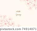벚꽃 핑크 계열 일러스트 프레임 01 74914071