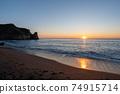 보소의 숨어있는 명소 오우 라 해안의 일출 74915714