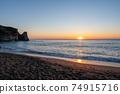 보소의 숨어있는 명소 오우 라 해안의 일출 74915716
