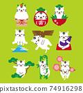 New Year's card 2022 Tora's pose set 1 White tiger 74916298