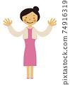 人的物質。黨的圖像例證。禮服的婦女。 74916319