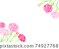 Background illustration of Mother's Day carnation drawn in watercolor 74927768