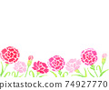 Background illustration of Mother's Day carnation drawn in watercolor 74927770