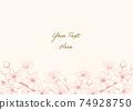 벚꽃 핑크 계열 일러스트 프레임 04 74928750