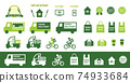 Delivery takeout icon set 74933684
